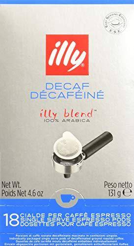 Illy Espresso entkoffeiniert, 18 ESE Pads / Espresso Pods / Cialde, 125 g