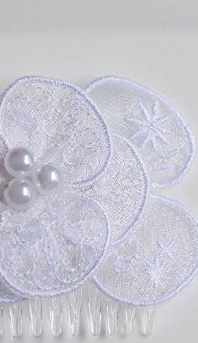 White bridal hair comb - wedding Ranking TOP9 ha Max 69% OFF piece Romantic Bridal