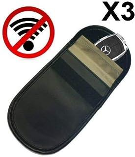 comprar comparacion 3x Genuine jaula de Faraday bolsa coche de entrada sin llave Fob Protector–Bloqueador de señ...