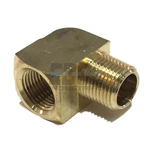 EDGE INDUSTRIAL Brass 90 Degree Street Elbow 3/8' Male NPT X 3/8' Female NPT Fuel / AIR/ Water / Oil/ Gas WOG (Qty 01)