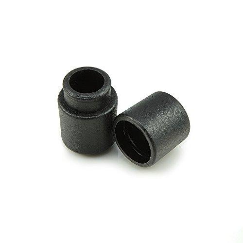 Ganzoo 20er Set Verbinder/Kordelverbinder,rund, zum verknüpfen von Paracord 550, aus Kunststoff für Paracord Armbänder, Kordeln etc, 2-teilig, Farbe: schwarz - Marke