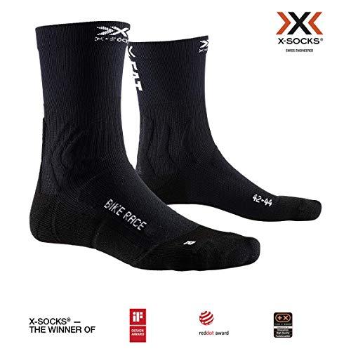 X-Socks Bike Race Socks, Unisex Adulto, Opal Black/Eat Dust
