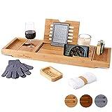 Temple Spring Badewannenablage mit Halter für Kerze, Weinglas, Buch, Tablet, iPad &...