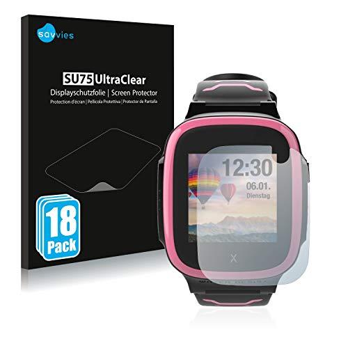 Savvies 18x Schutzfolie kompatibel mit Xplora X5 Play Bildschirmschutz-Folie Ultra-transparent