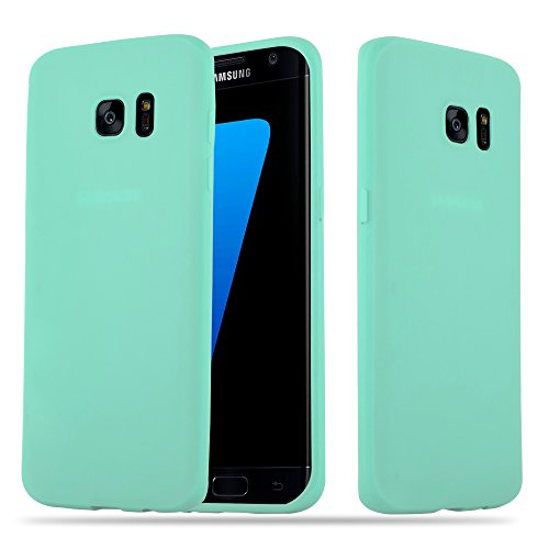 Cadorabo Funda para Samsung Galaxy S7 Edge en Candy Azul - Cubierta Proteccíon de Silicona TPU Delgada e Flexible con Antichoque - Gel Case Cover Carcasa Ligera