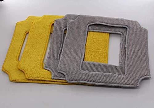 Mamibot Fensterputzer W120 und W120-T Zubehör Wischtuch (4 STÜCKE = 2 Stück Grau + 2 Stück Gelb)