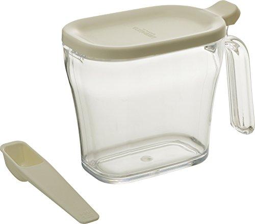 リス 調味料入れ ( 砂糖 塩 ) クックポット スリム ホワイト 440ml リベラリスタ 日本製