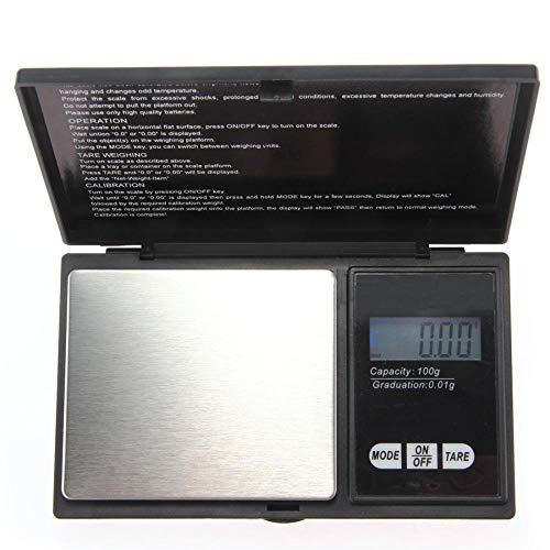 Lcd-scherm 100g / 0.01g Digitale weegschaal Gram Pocket Units Elektronische weegschalen voor sieraden Goud Zilver Munt met back-uplicht