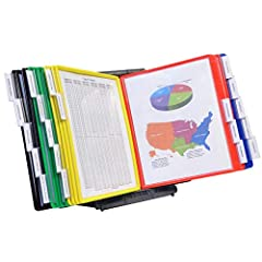 FIND INFORMATION FAST - Provides EASY access to information you need every day - 20 pockets display up to 40 letter-size sheets. Brightly colored or all black pockets quickly direct you to frequently used information SAVING YOU TIME AND MONEY EASY LO...