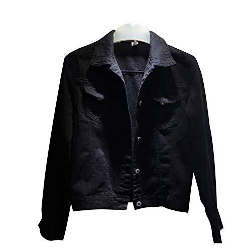 NZJK Vrouwen Denim Jas Dames Korte Jeans Overjas Turn Down Collar Slank Wit Zwarte Jeans Jassen Vrouwen Mode Streetwear