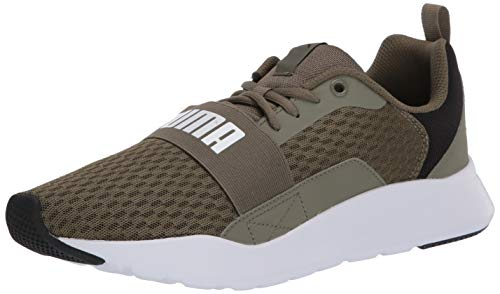 PUMA Unisex-Adult Wired Sneaker, Burnt Olive White, 4.5 M US