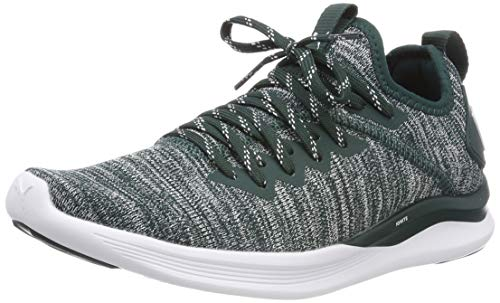 Puma IGNITE Flash evoKNIT Wn's, Damen Laufschuhe, Grün (Ponderosa Pine-Puma White), 39 EU ( UK)