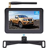 AMTIFO HD 1080P Digital Wireless Backup Camera System with 5'' Monitor for Cars,Pickups,Trucks,Small RVs,Campers,Rear/Front View,Guide Lines On/Off,IP69 Waterproof