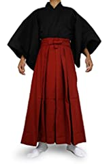 Size M height 160cm-165cm L height 165cm-170cm LL(XL) height 175cm-175cm Hakama are a type of traditional Japanese clothing resembling a wide, pleated skirt. Material: Cotton 100%. It's made from cotton fabric.