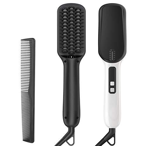Alisador de Barba Peine de Barba Iónico Multifuncional para el Alisado del Cabello, Plancha de Barba/Cabello Profesional para Hombre Mujer