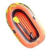 SZTUCCE 2/3 Persona CLORURO DE POLIVINILO Barco de Pesca Kayak Inflable Engrosado Barco Inflable con 2 paletas Bomba Manual Conjunto A la Deriva de Buceo aerodeslizador (Color : 3 Person Use)