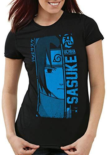 style3 Sasuke Uchiha Camiseta para Mujer T-Shirt Ninja Anime Manga Cosplay kakshi Hatake