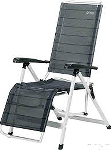 Chaise longue à trois pieds en aluminium avec assise confortable et position allongée – Coussin de nuque – 5,5 kg léger – Bras – Holly Vertrieb Stabilo ® – Visières Holly