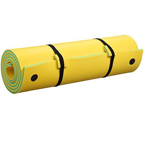 Outdoor Basic Floating Water Pad 12x6 Ft 3-Layer Lake Aqua Foam Mat