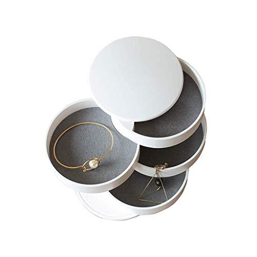 JISHIYU-Q Almacenamiento de la joyería pequeña Caja de Accesorios Cuerda Pulsera de la Cabeza de Acabado Box_Jewelry Caja de múltiples Capas con la Caja de Tapa, girando niñas Simples creativos