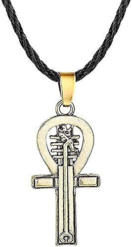 YOUZYHG co.,ltd Halskette Norwegischer Amulett Anhänger Halskette Punk-Stil Antik Kreuz Irischer Vintage Schmuck