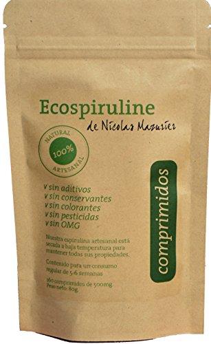 Espirulina de alta calidad | 160 comprimidos de 500mg: 80g de espirulina pura sin aditivos | Calidad Premium garantizada