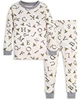Burt's Bees Baby baby girls Pajamas, 2-piece Pj Set, 100% Organic Cotton (12 Mo-7 Yrs) and Toddler Pajama Bottoms, Eggshell A-bee-c, 6 Years US