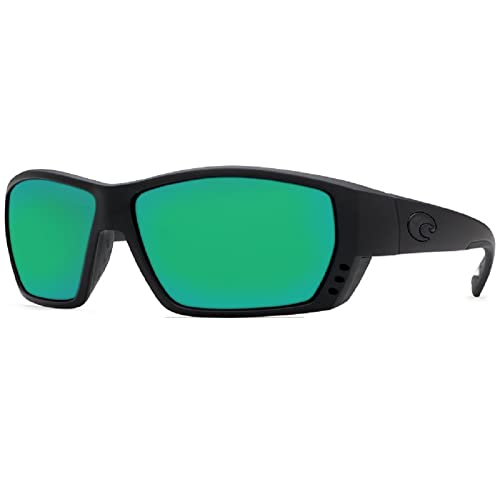 bcab059e2ce New Costa Del Mar Tuna Alley 580G Blackout Green Mirror Polarized Sunglasses