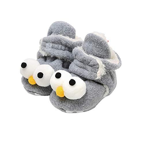 EDOTON Botas de Niño Calcetín Invierno Soft Sole Crib Raya de Caliente Boots de Algodón para Bebés (0-6 Meses, Gris-C, Tamaño de Etiqueta 11)