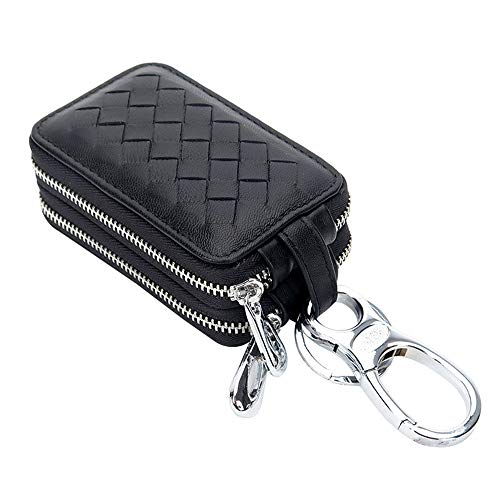 QCCOKNN - Llavero unisex para coche con carteras multifunción, llavero, bolso para llaves para la casa