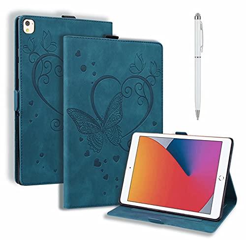 DYGG Compatible con Funda Apple iPad 5th/6th.iPad Air 1.iPad Air 2.Apple iPad 9.7 Inch 2017/2018.iPad Pro 9.7-Inch Carcasa con lápiz táctil Auto-Sueño/Estela, Azul