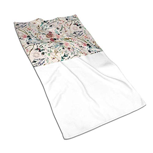 CGHD Fable Floral Microfiber Sand Free Beach Towel -Quick Fast Dry Super Absorbent Lightweight Thin Towel for Travel Pool Swimming Bath Camping Yoga Gym Sports