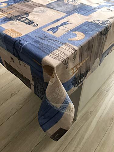 1KDreams Antimacchia Impermeabile tovaglia da tavola. Mare Shabby Chic. Made in Italy....