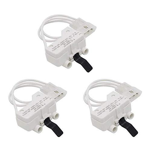 ZRNG 3pcs 3406107 Secadora de la Puerta Interruptor de reemplazo para Whirlpool Kenmore AP6008561 PS11741701