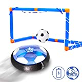 Kids Toys Hover Soccer Ball Set , Homidic Rechargeable Air Power Soccer Ball with LED Lights, Children Toys Training Football Indoor Outdoor with 2 Gates, Including an Inflatable Ball