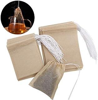 OUNONA 200pcs bolsas de te desechables bolsas de filtro para té de hojas sueltas (9 * 7 cm y 7 * 5.5 cm)