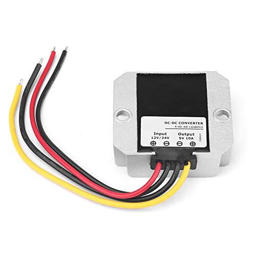 Yosoo Health Gear Regulador de Voltaje Buck, DC 12V/24V a 5V 10A 50W Convertidor de Voltaje Módulo de Fuente de alimentación del Transformador de Voltaje Reductor