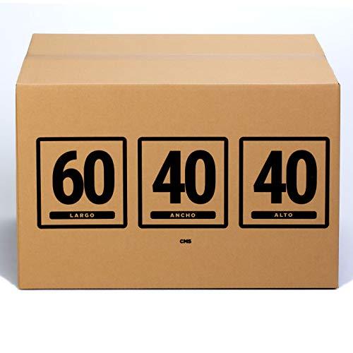 TeleCajas | (10x) Cajas de Cartón 60x40x40 cms | Una Onda - QR1782S | Lote de 10 unidades