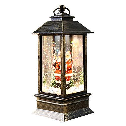 Linterna de vela navideña, linternas navideñas decorativas, lámpara colgante sin llama para decoración navideña, linternas de mesa con pilas para pabellón doméstico