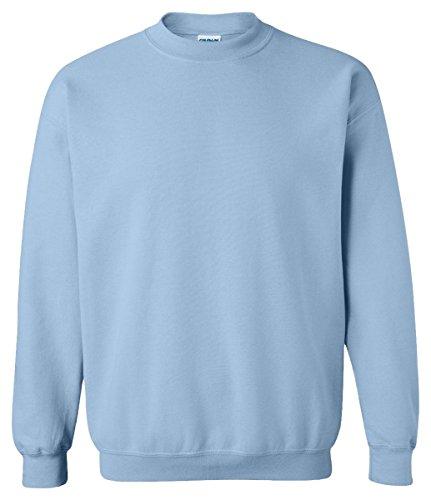 Gildan Activewear 50/50 Crewneck Sweatshirt, M, Light Blue