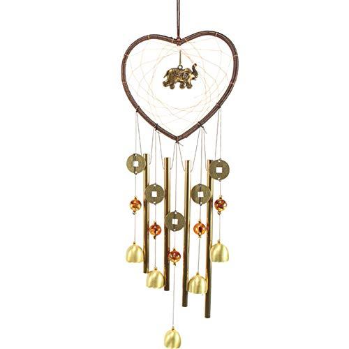 HUAJIA Atrapasueños, Regalo para El Amante, Corazón Creativo, Elefante, Atrapasueños, Campanilla De Viento De Metal, Colgante, Jardín, Decoración Elefante #