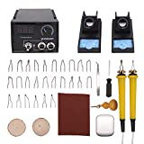 Wood Burning Kit, WANDART 60W Wood Burning Tool Pyrography Kit with Dual Wood Burner and 26 Woodburning Wire Nibs Tips for Beginner and Professional