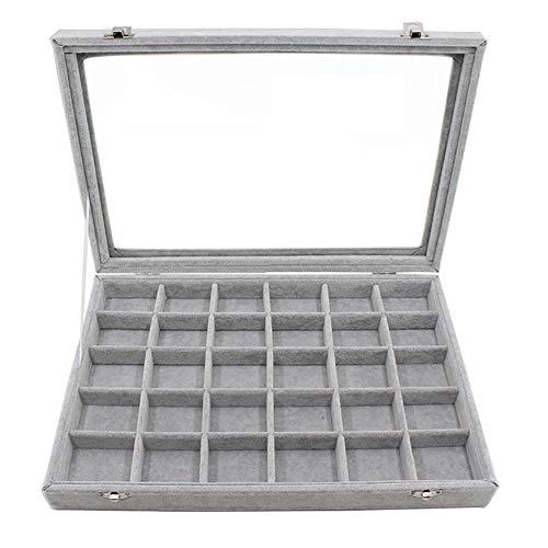 BIGBOBA Caja de Regalo Pequeñas Joyas Almacenaje Expositor Anillo Pendientes Portable Organizador...