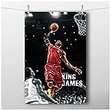 wzgsffs Basketball Sport Poster Lebron James Dunk Druck auf