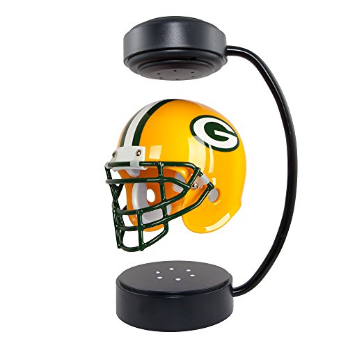 Pegasus Sports NFL Rotating Levitating Hover Helmet with LED Lighting, Green Bay Packers