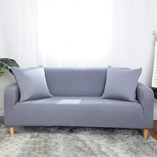 Allenger 1 Protector elástico para Muebles,Sofá Todo Incluido de Color sólido, Funda de sofá fácil de Limpiar, Funda Protectora de sofá de Alta Elasticidad-Gris Plateado_90-140cm