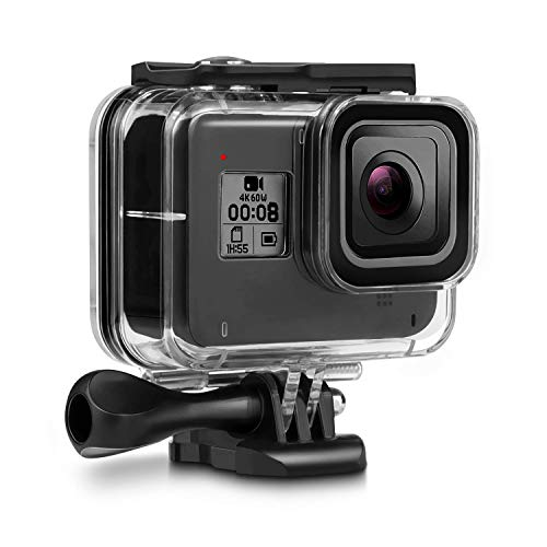 Deyard 60M Waterproof Case Compatible with GoPro Hero 8 Black Underwater Waterproof Protective Housing Case for GoPro Action Camera with Quick Release Mount and Thumbscrew