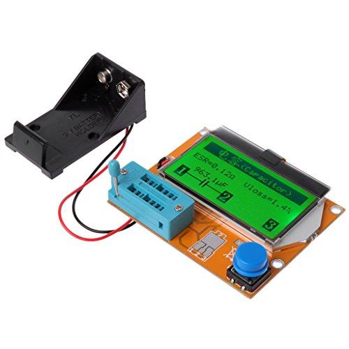 Ycncixwd Digitaler Transistor-Tester LCR-T4 ESR Messgerät 12864 Hintergrundbeleuchtungskapazität