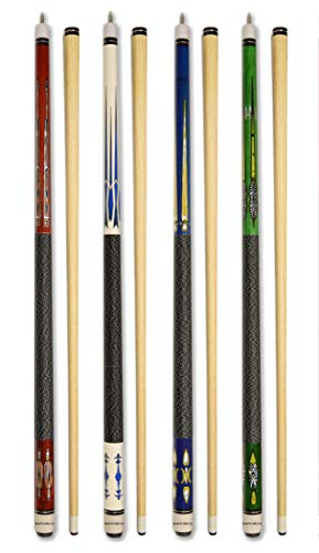 Set of 4 Pool Cues New 58' Billiard House Bar Pool Cue Sticks (SET15~18)