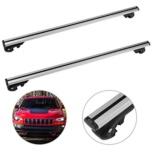 SCITOO fit for Jeep Cherokee 2014 2015 2016 2017 2018 Aluminum Alloy Roof Top Cross Bar Set Rock Rack Rail -  106609-5206-1837086521